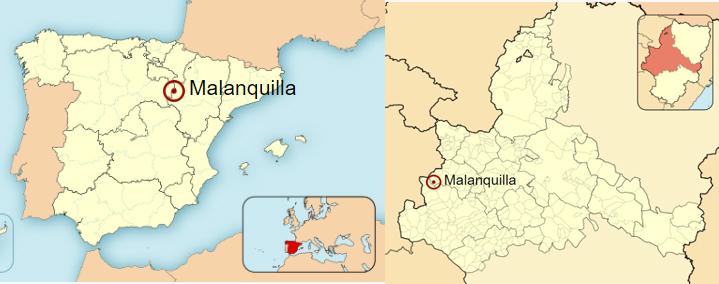 Situación de Malanquilla en el mapa