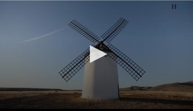 video explicativo realizado por el heraldo de aragón sobre el gigantesco molino de viento de malanquilla