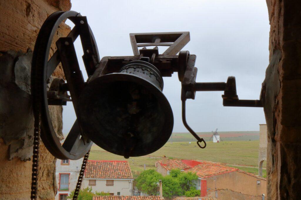 vista del molino de malanquilla desde el campanario de la iglesia