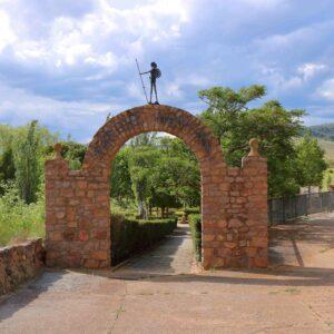 arco de entrada al parque municipal de malanquilla
