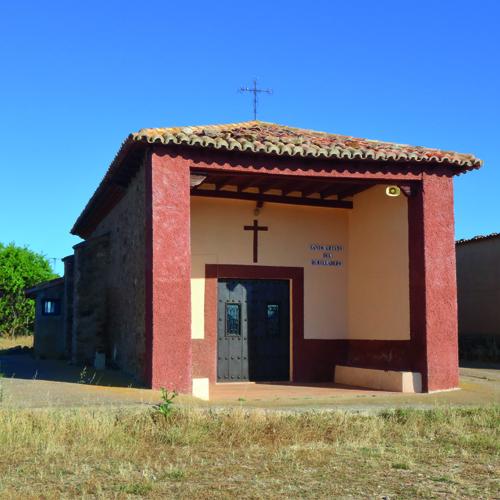 bonita imagen de la ermita del santo cristo del humilladero de malanquilla en un día soleado