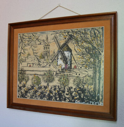 cuadro del molino de viento de malanquilla pintado por gregorio prieto y bautizado como el macho de los molinos de viento