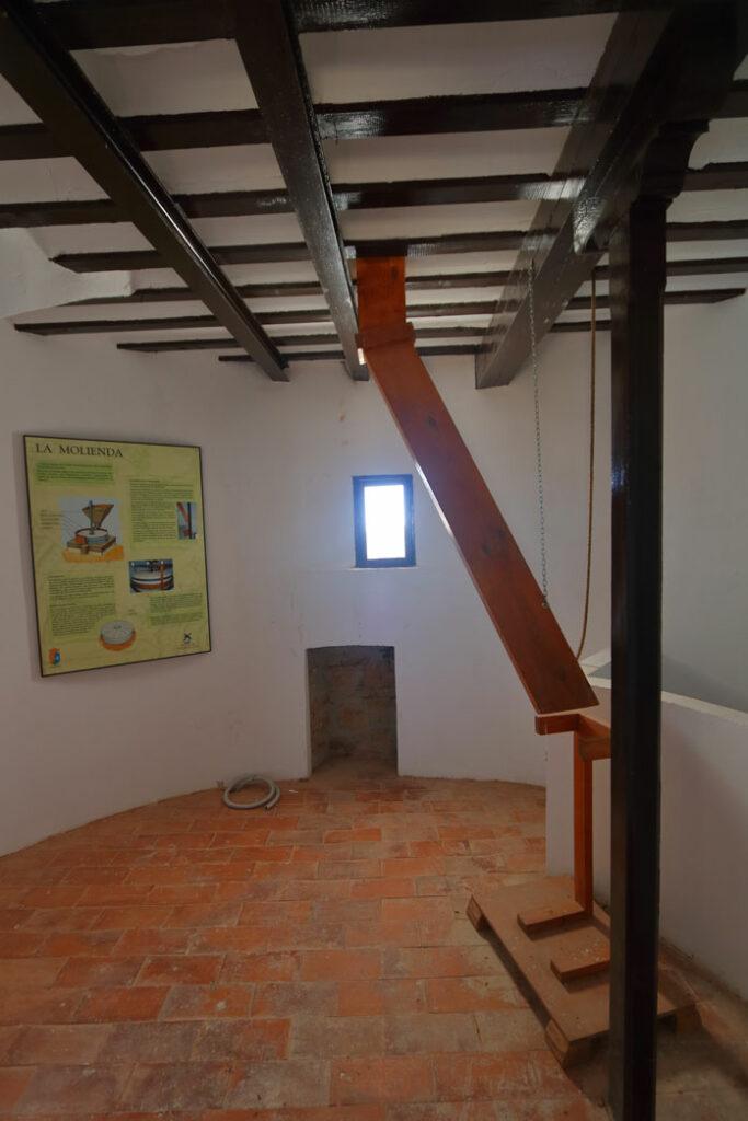 camareta del molino es la planta donde cae la harina recien molida