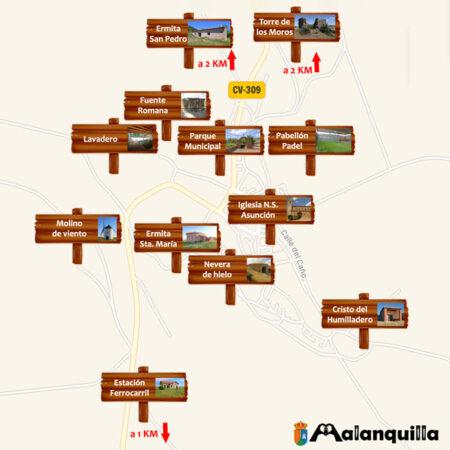 plano turístico de Malanquilla