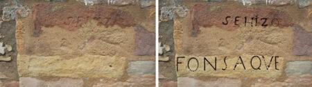 inscripciones romanas en la fuente de los 3 caños