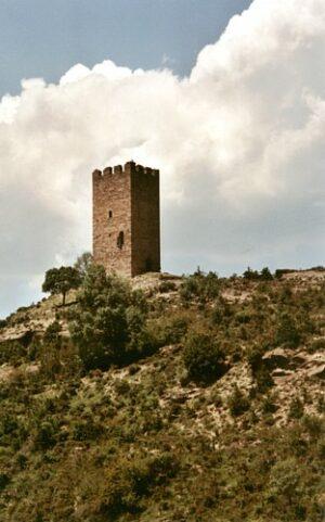 imagen del archivo del gobierno de aragón de la torre del moro de malanquilla