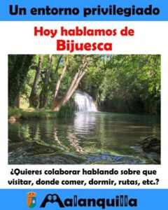 el entorno de Malanquilla Bijuesca y su cascada de los chorros y fuente de 28 caños