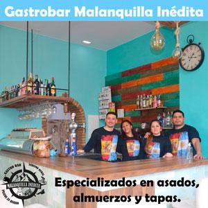 gastrobar malanquilla inedita especializados en asados argentinos, empanadas, tapas, vermús y almuerzos