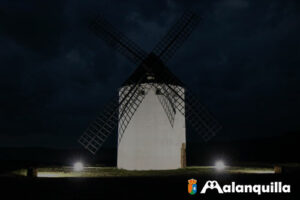 iluminación del molino de viento de malanquilla inaguración oficial